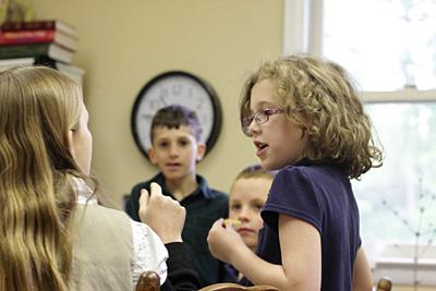 Excited Schoolchildren at Divinum Auxilium Academy