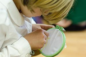 Schoolchild at Divinum Auxilium Academy