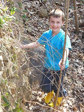 Boy Hiking at Divinum Auxilium Academy