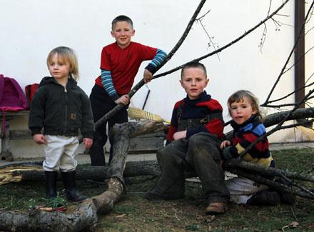Four Children at Divinum Auxilium Academy